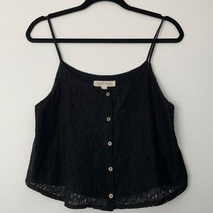 Painted Threads crochet lace tank top
